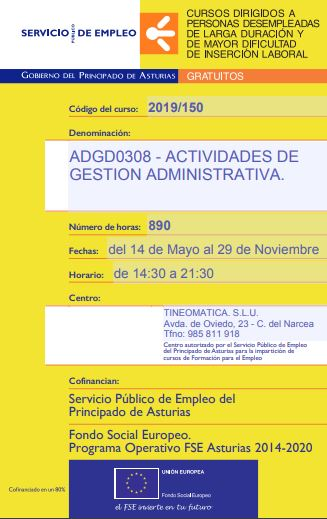Curso Actividades de gestión administrativa