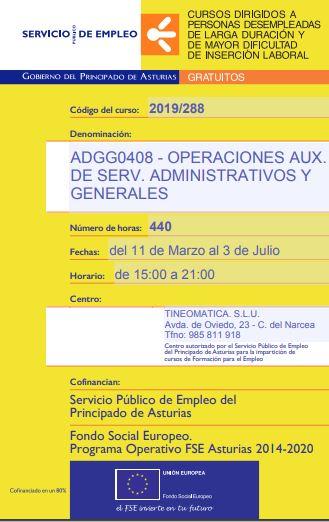 Curso Operaciones auxiliares de servicios administrativos y generales